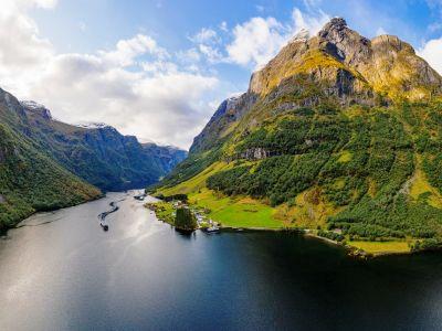 Der Sognefjord, der König der Fjorde in Norwegen