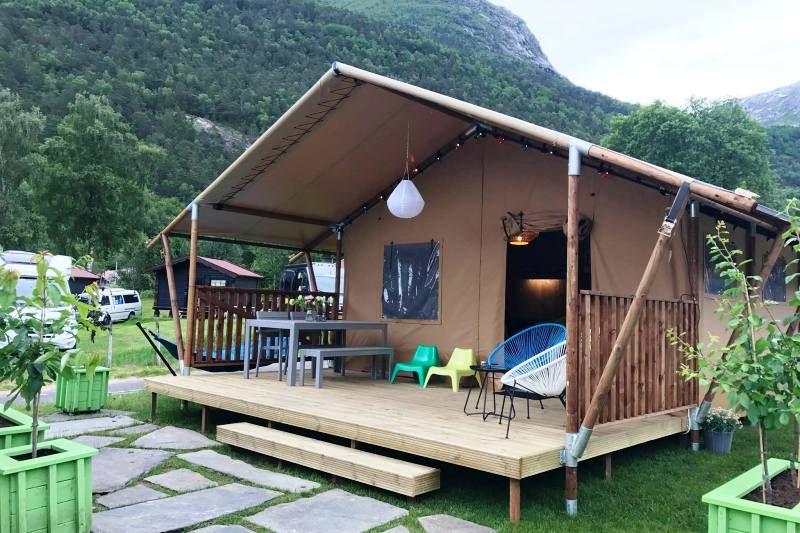 Camping Mikkelparken Ferietun Lodgetent