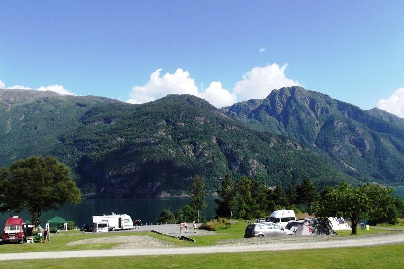 Eikhamrane Camping uitzicht