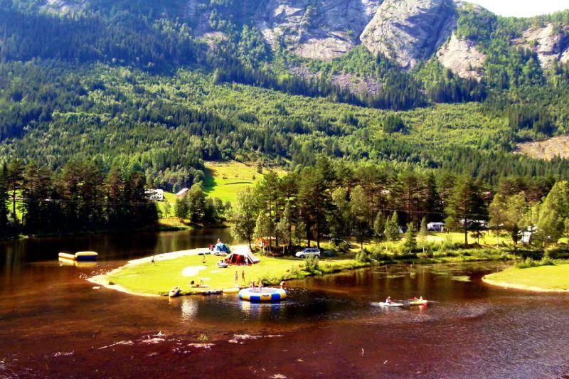Flateland Camping Setesdal ligging