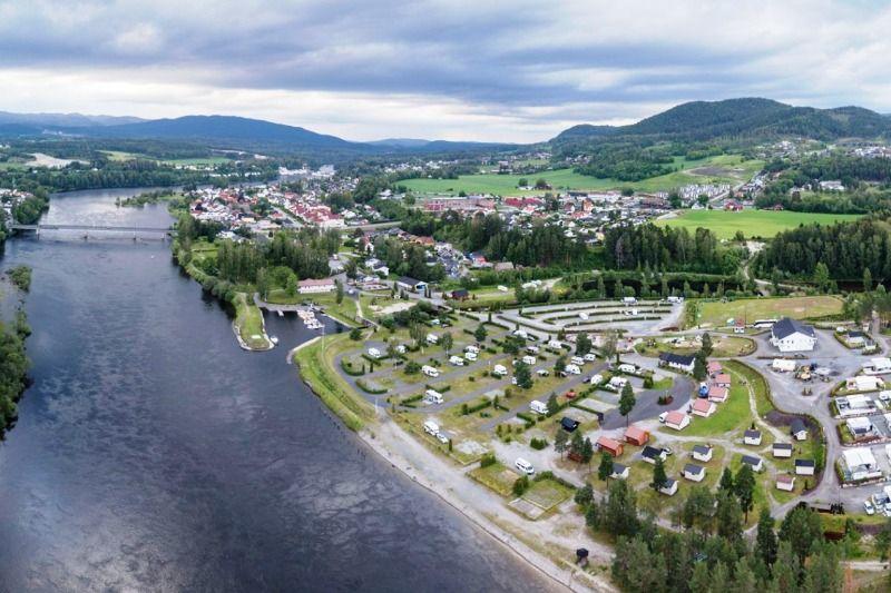 Hokksund Camping ligging