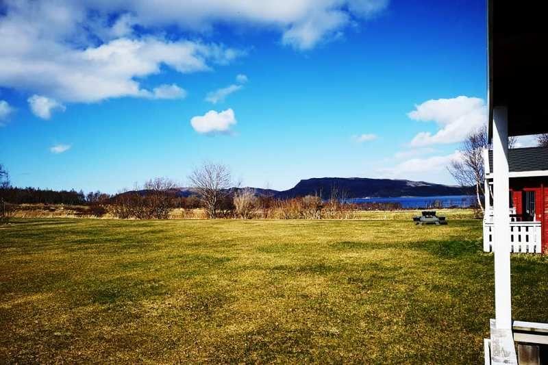 Holm Camping Bindalseidet uitzicht hytter