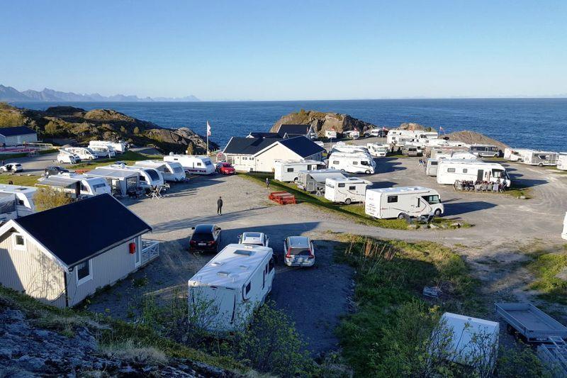Moskenes Camping ligging
