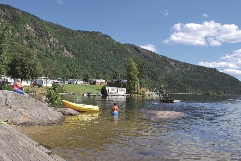 Neset Camping Byglandsfjord zwemmen