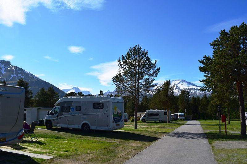 Olderelv Camping Skibotn uitzicht