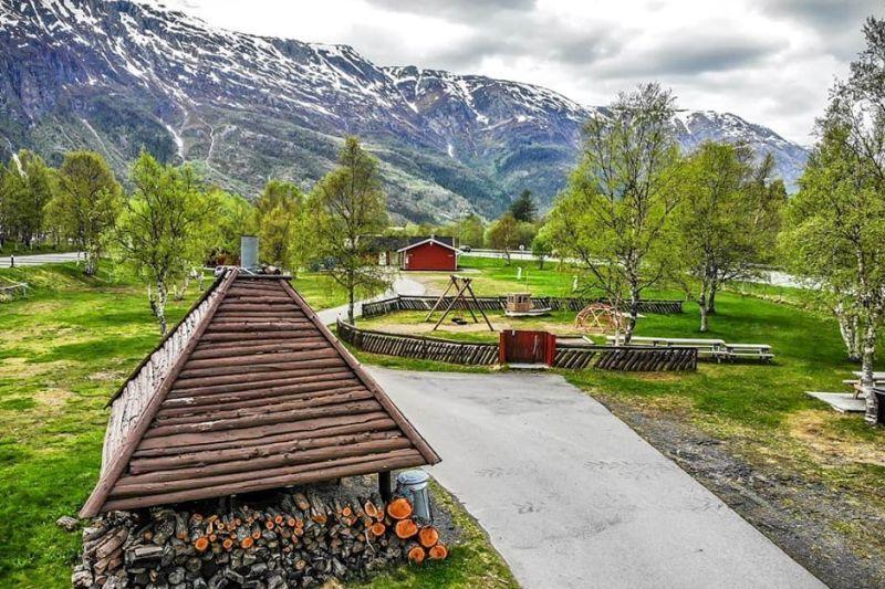 PlusCamp Mosjoen Camping overdekte grillhut