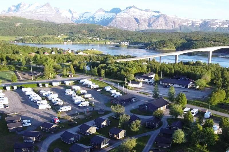 PlusCamp Saltstraumen Camping ligging