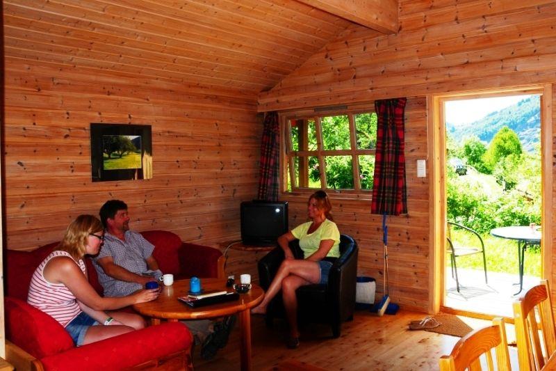 PlusCamp Sandvik Gaupne hytter binnen