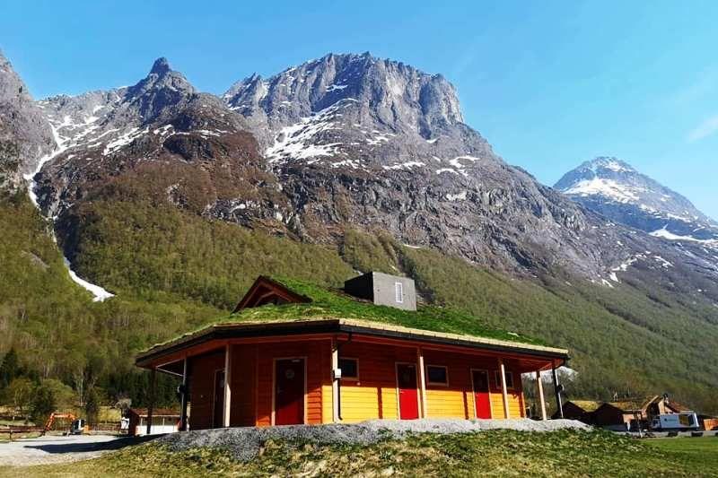 PlusCamp Trollstigen Camping og Gjestegard nieuw sanitairgebouw