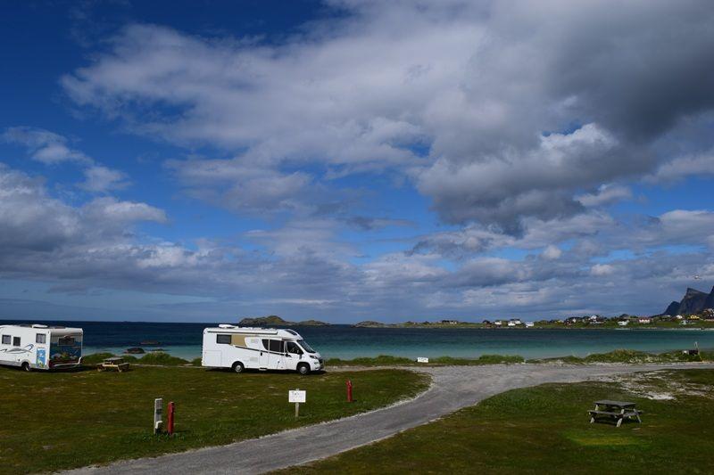 Ramberg Gjestegard kamperen aan het strand