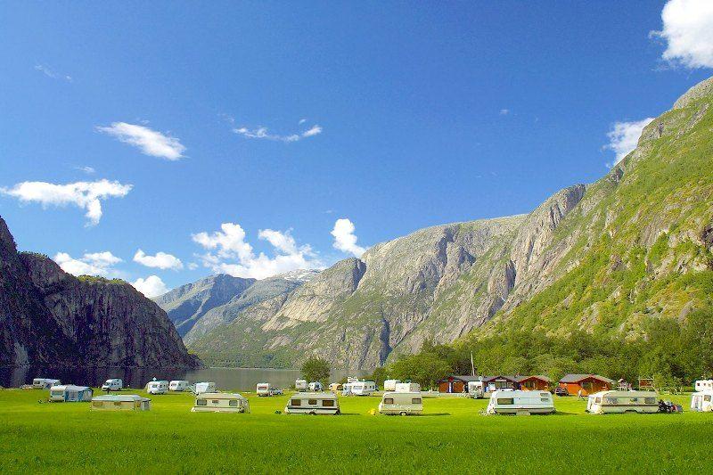 Saebo Camping Ovre Eidfjord ligging