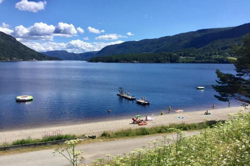 Seljord Camping ligging aan meer