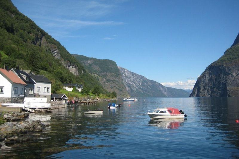 Undredal Camping aan het Aurlandsfjord