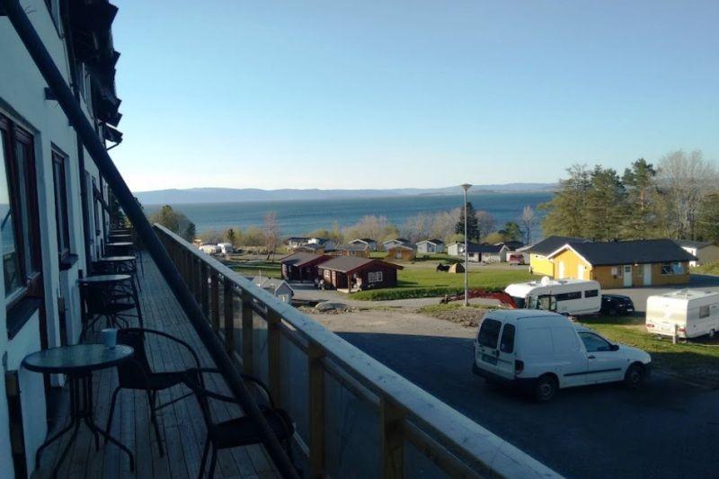 Vikhammer Camping uitzicht